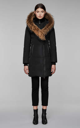 Mackage KAY mid length classic down coat with fur collar
