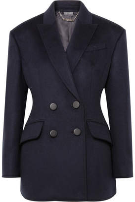 Alexander McQueen Double-breasted Wool Blazer - Navy