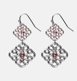 Avenue Scrolling Diamond Drop Earrings