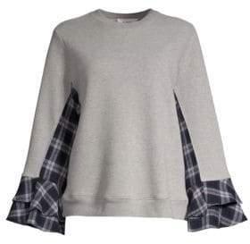 Clu Paneled Bell Sleeve Sweatshirt