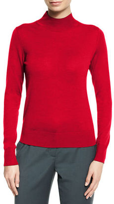 Theory Sallie Refine Mock-Neck Sweater $200 thestylecure.com