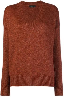 Etro lurex V-neck sweater
