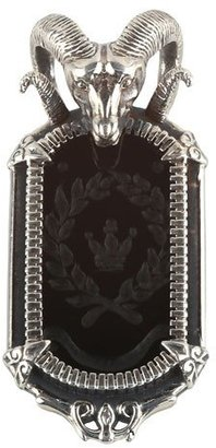 Konstantino Men's Sterling Silver Ram Pendant with Onyx $990 thestylecure.com