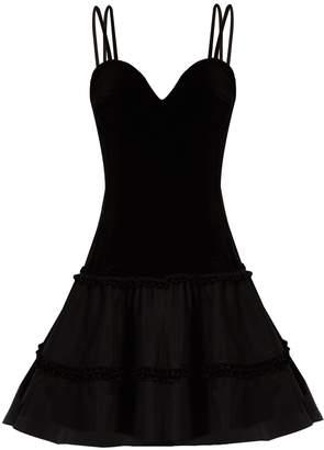 Emilio De La Morena Valentine sweetheart-neck velvet dress