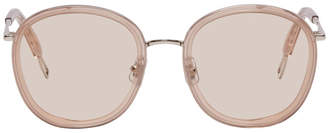 Gentle Monster Taupe and Silver Ollie Sunglasses