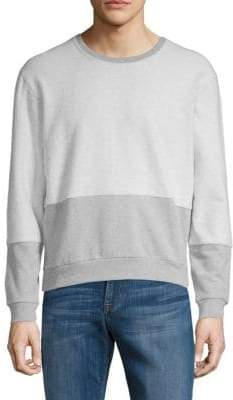 Lot 78 Reverse Stretch Cotton Colorblock Sweatshirt