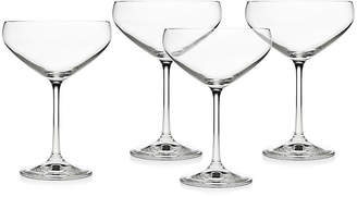 One Kings Lane Set of 4 Marley Coupe Glasses - Clear