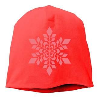 TOGEFRIEND Top Level Beanie Hat for Men Women Knit Hat Snowflake Cotton Skull Cap