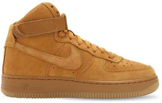 Nike Air Force 1 High Top Suede Sneakers