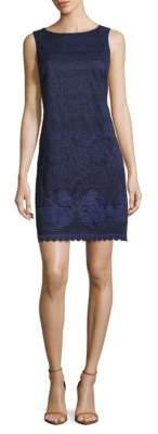 Eliza J Scalloped Hem Sheath Dress