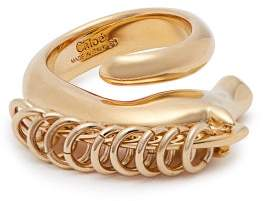 Chloé Arizona Horse Brass Ring - Womens - Gold