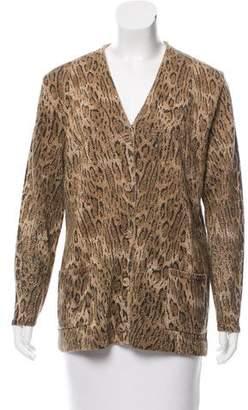 Saint Laurent Printed Wool Cardigan w/ Tags