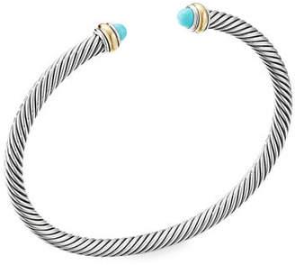 David Yurman Cable Bracelet w/ 18k Gold & Gemstones, Size S-L