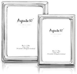 Argento Sc Double Bead Sterling Silver Frame, 5 x 7