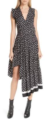 3.1 Phillip Lim Floral Print Silk Midi Dress