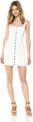 For Love & Lemons Women's Hermosa Eyelet Snap Dress, M