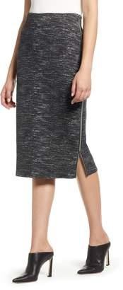 Halogen Side Zip Ponte Pencil Skirt
