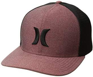 Hurley Men's Black Textures Curved Bill Flexfit Cap