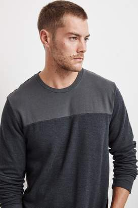 Velvet by Graham & Spencer ANDROS COLORBLOCK MARLED JERSEY TEE