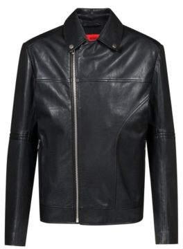 HUGO Boss Slim-fit biker jacket in nappa calf leather XL Black