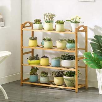 Magshion Shelf Rack Bathroom Kitchen Storage Shelf Plant Stand Bookcase 4 Tier