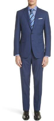 Canali Classic Fit Tonal Plaid Wool Suit