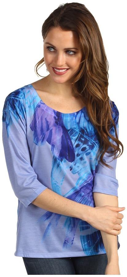 Calvin Klein Jeans Sublime Wings Dolman Sleeve (Blue Ice) - Apparel