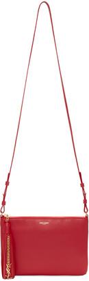 Saint Laurent Red Monogram Teen Bag $995 thestylecure.com