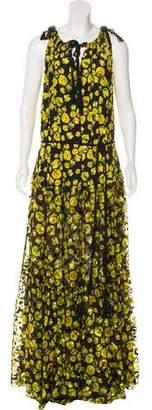 Lanvin Floral Print Maxi Dress