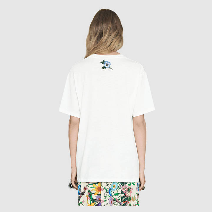 Gucci print cotton t-shirt 10