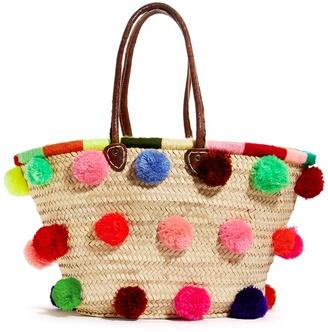 Esperanza Pom Pom Tote Bag $78 thestylecure.com