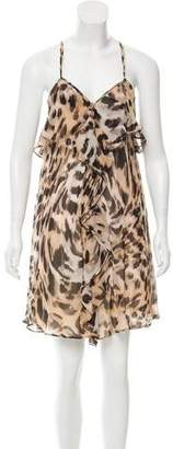Yoana Baraschi Leopard Print Silk Dress