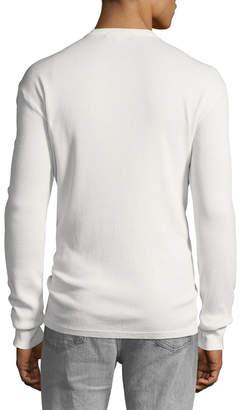 Frame Men's Henley Waffle-Knit Shirt