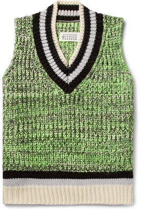 Maison Margiela Mélange Cotton-Blend Sweater Vest