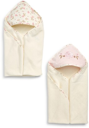 Little Me Rose 2-Pack Hooded Towels