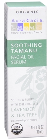 Aura Cacia Soothing Tamanu Facial Oil Serum Lavender & Tea Tree