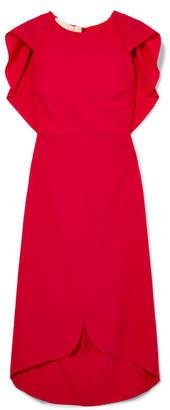 Antonio Berardi Draped Wool-blend Dress - Red