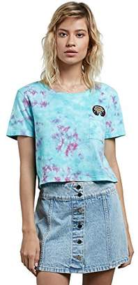 Volcom Junior's Georgia May Jagger Core Tie Dye Short Sleeve Shirt
