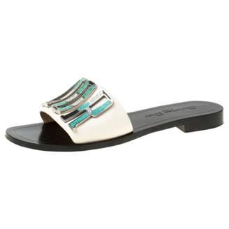 Christian Dior Dio(r)evolution White Leather Sandals