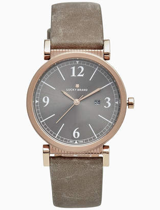Lucky Brand CARMEL TAUPE LEATHER WATCH, 34MM