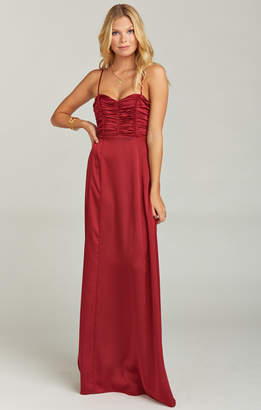 Show Me Your Mumu Bonbon Strapless Dress ~ Ruby Luxe Satin