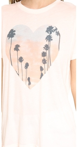 Wildfox Couture Cali Heart Oversized Tee