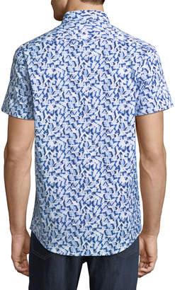 1 Like No Other Classic-Fit Geometric Short-Sleeve Sport Shirt
