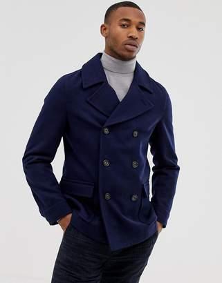 Harry Brown premium wool blend pea coat