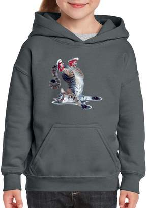 Xekia Tired Kitten Cats Meow Sleep Hoodie For Girls - Boys Youth Kids