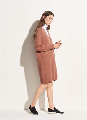Deep V-neck Raglan Dress