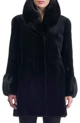 Gorski Reversible Sheared Mink Stroller Coat
