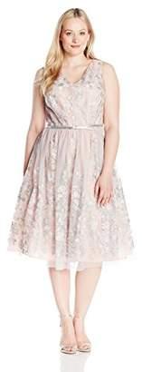 Jessica Howard JessicaHoward Women's Plus Size V-Neck Party Dress