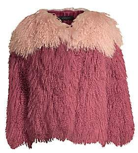 H Brand Women's Andie Two-Tone Shearling Jacket