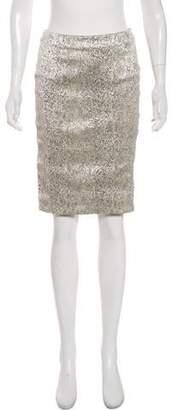 Helene Berman Metallic Knee-Length Skirt